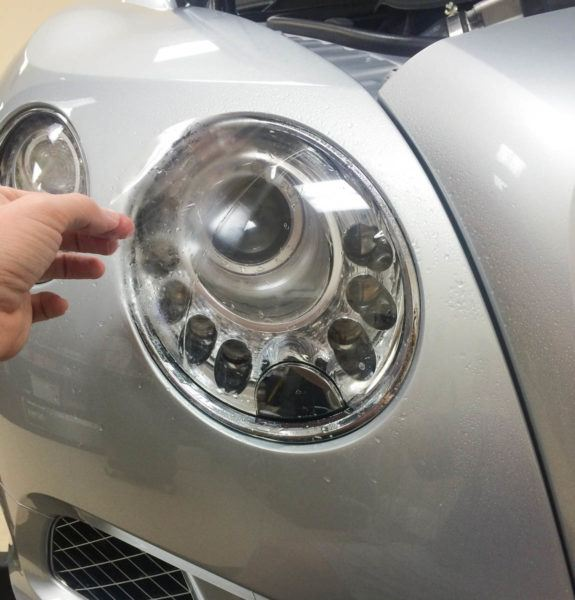 Porsche Headlight Protection Film in Tampa Florida - Auto Paint Guard