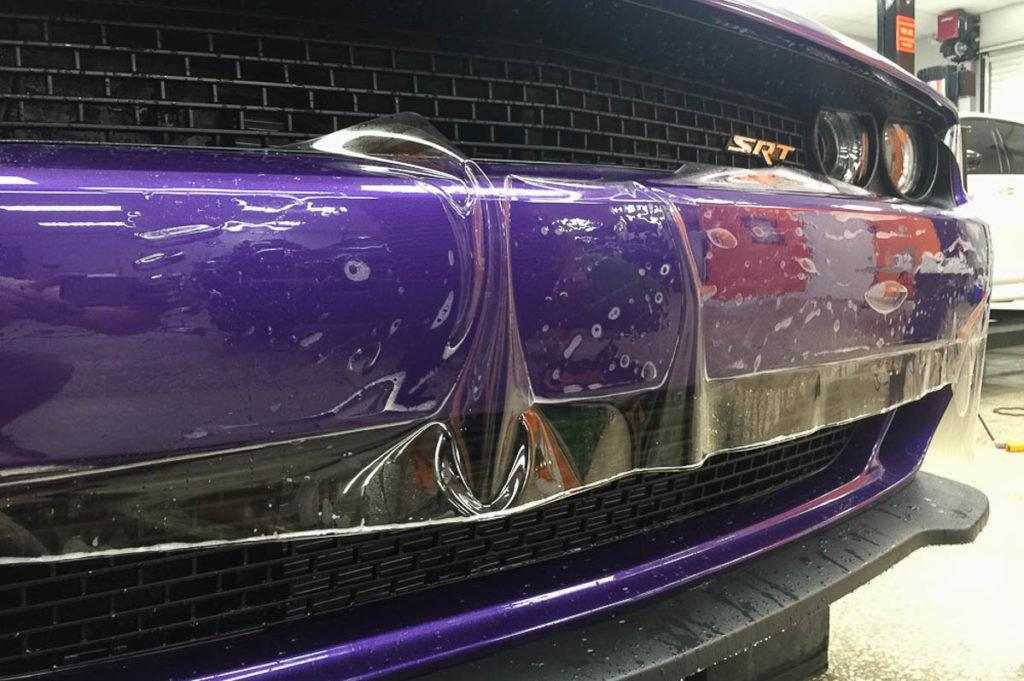 Auto Paint Protection Film - Dodge Challenger SRT Hellcat Plum Crazy Purple - Tampa Florida - Auto Paint Guard
