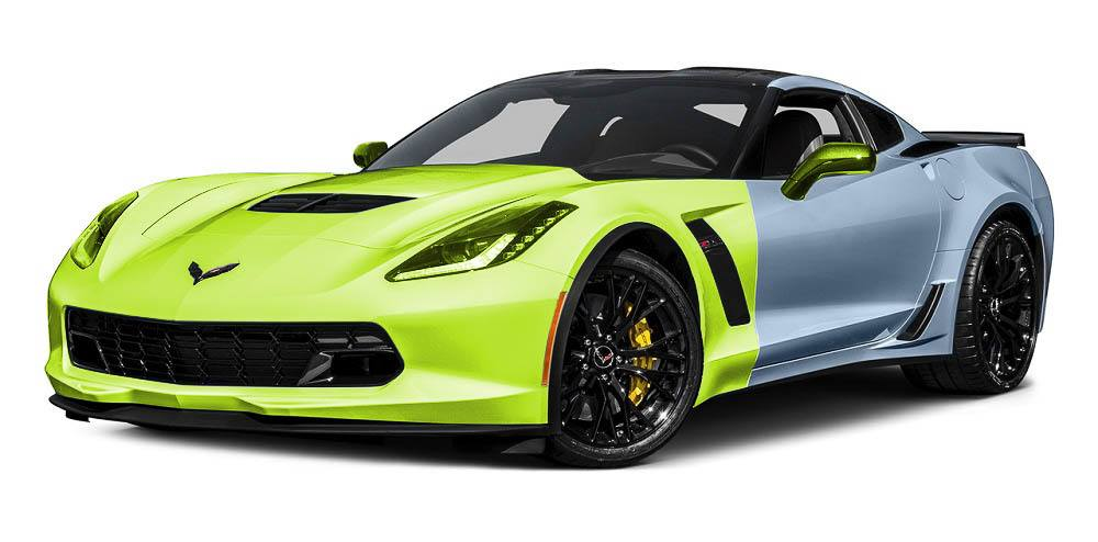 Corvette Paint Protection Film Packages - Full Front Package - Auto Paint Guard