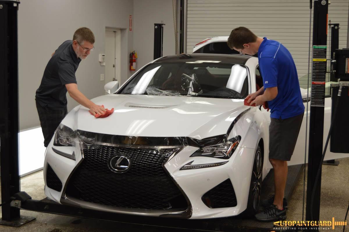 Auto Detailing Service - Paint Correction - Luxury Cars - Tampa Florida - Auto Paint Guard - Rear Mirror - Detailed Photo - White Lexus