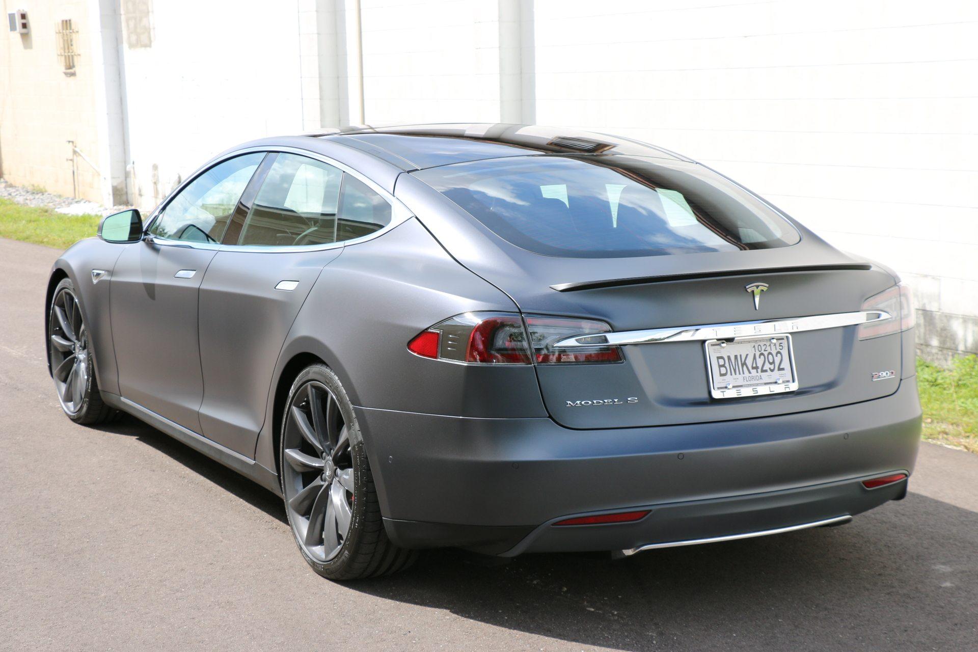 Auto Detailing Service - Paint Correction - Luxury Cars - Tampa Florida - Auto Paint Guard - Rear Mirror - Detailed Photo - Tesla Model S