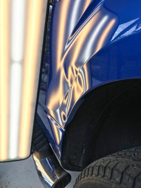 Paintless Dent Repair in Tampa Florida - Ford F150 - Auto Paint Guard - Before