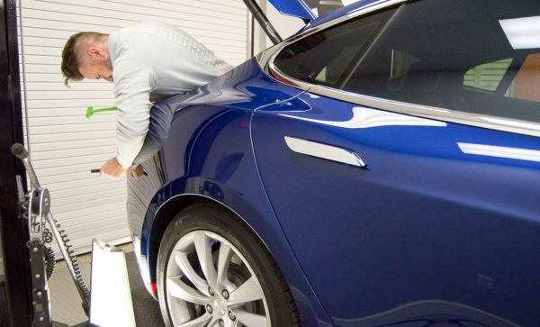 Paintless Dent Repair in Tampa Florida - Tesla - Auto Paint Guard