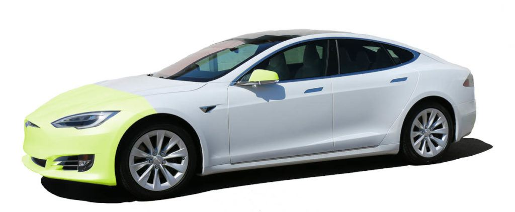 Tesla Paint Protection Film Packages in Tampa Florida - Standard Front - Auto Paint Guard