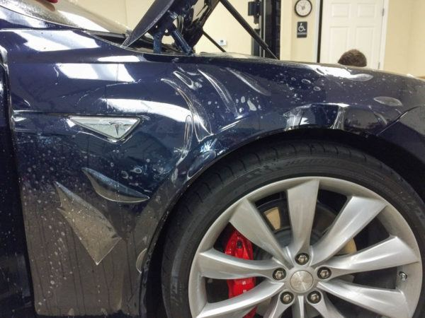 Tesla Paint Protection Film - Tampa Florida - Auto Paint Guard - Front Fender Protection