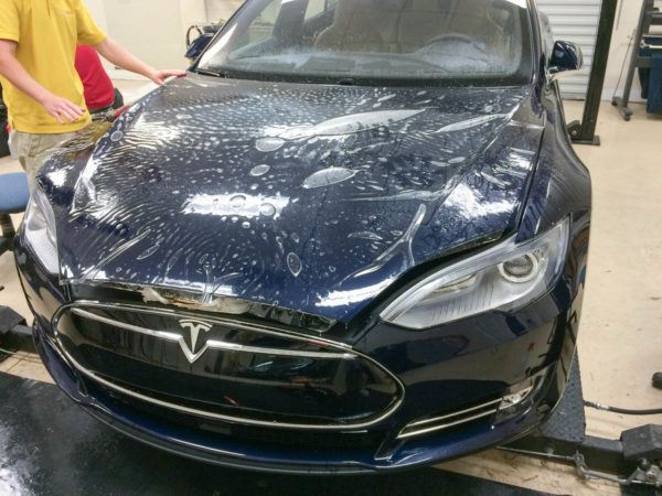 Tesla Paint Protection Film - Tampa Florida - Auto Paint Guard - Full Hood Protection