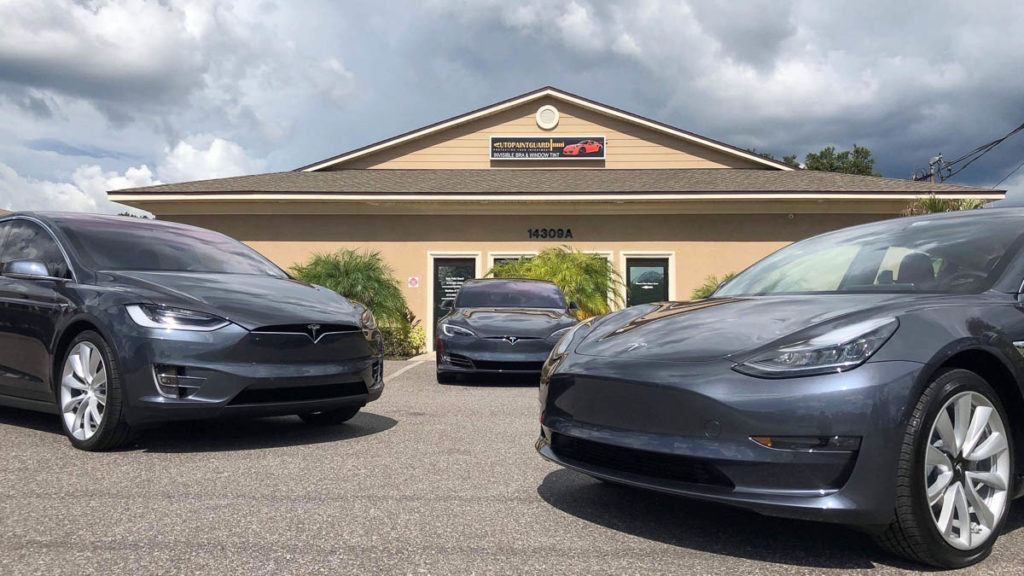 Tesla Paint Protection Film in Tampa Florida - Auto Paint Guard