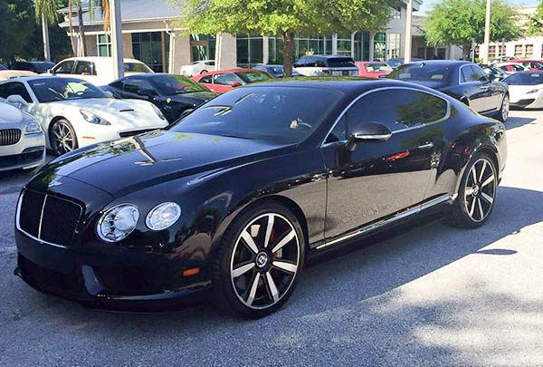 Window Tinting Service in Tampa Florida - Bentley Coupe - CXP18 - Auto Paint Guard
